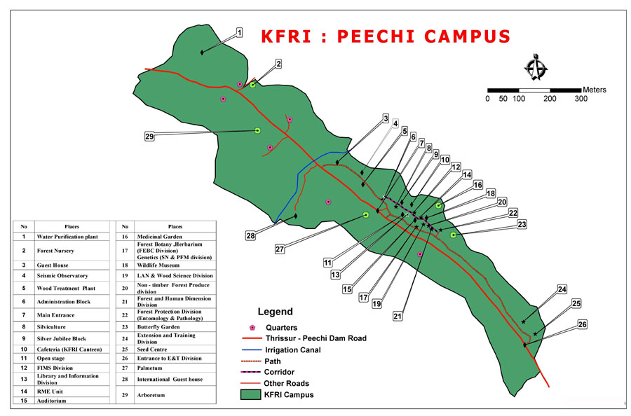 Western Ghats On Map KFRI is well connected by rail